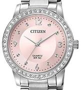 Citizen 西铁城 女式不锈钢水晶点缀石英手表 到手571.09元