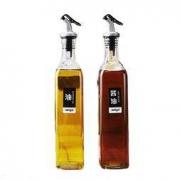 aelga 厨房方形玻璃油瓶500ml*2支 送漏斗6.9元(需用券)