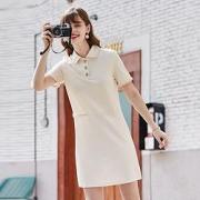 Betu 百图 法式小香风  polo短袖连衣裙  2103T73K3129元包邮