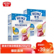 Heinz 亨氏 超金 健儿优 含膳食纤维杂粮面条256g*2(无盐)3段 婴幼儿辅食(6个月以上-36个月适用)39.9元(包邮)