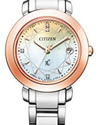 Citizen 西铁城 xC系列 ES9446-54X 光动能五局电波时尚镶钻女表