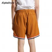 AlphaStyle ASJ-SE-2091-HAZ 男士运动拼接短裤199元包邮(需用券)