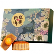 Huamei 华美  祥鹿贺月月饼礼盒 十二饼六味 630g19.9元