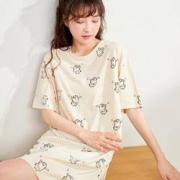 COSMO LADY 都市丽人 2H1601-2319 女士卡通印花睡裙17元 (需用券)