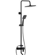 ARROW 箭牌卫浴 AE33104MB-P1 黑色圆形三功能淋浴套装