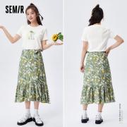 Semir 森马 镂空短袖T恤  蝴蝶结半身裙  13040170013