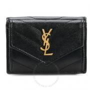 YSL 圣罗兰 黑色小号 三折钱包$299.98(折¥2039.86)