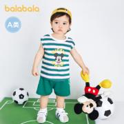 balabala 巴拉巴拉 儿童短袖套装