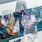 DANYU 丹语 几何透明无铅玻璃杯 320ml4.6元+20淘金币(需用券)