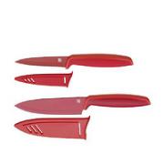 WMF 福腾宝 Touch系列 两件刀具套装 红色