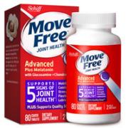 Move Free 益节 褪黑素+氨糖 紫瓶 80粒