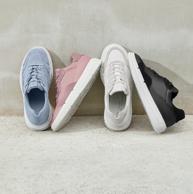ECCO 爱步 Soft X柔酷系列 女士真皮拼接运动鞋