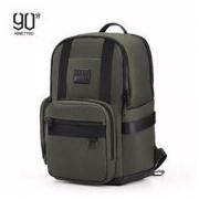 NINETYGO 90分 中性商旅双肩包 轻盈大容量背包 15.6英寸笔记本电脑包 军绿色