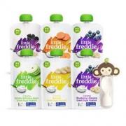LittleFreddie 小皮 多口味儿童酸奶果泥欧洲原装进口西梅蓝莓樱桃酸奶泥吸吸袋100g*6袋
