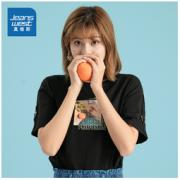 JEANSWEST 真维斯 JW-02-273TB524 女士纯棉印花短袖19.9元(需用券)
