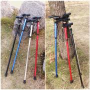 FOLOUFO/佛伦佛 超轻伸缩折叠登山杖拐杖拐棍