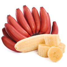 NANGUOXIANSHENG 果沿子 新鲜红美人香蕉红皮香蕉 约5斤装