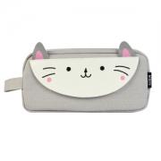 M&G 晨光 APBN3675 别咬我系列 灰色小猫咪大方形笔袋11.3元