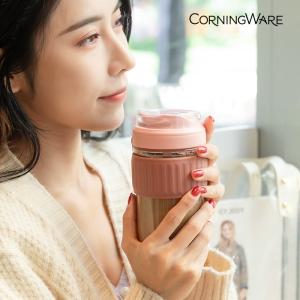 CorningWare 康宁锅 玻璃咖啡随行双饮杯 460ml