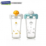 Glasslock 三光云彩 PC-618 韩版女玻璃杯子 450ML18元包邮(需用券)