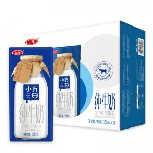 88VIP:三元 小方白 纯牛奶 200ml*24盒*5件
