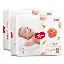 HUGGIES 好奇 铂金装 婴儿纸尿裤 L38片*2包