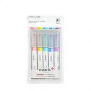 KOKUYO 国誉 MARK+系列 PM-MT100-5S 双头荧光笔 混色 5支装