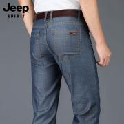 JEEP旗下年轻品牌,天丝面料:JEEP SPIRIT 男士 宽松直筒牛仔裤108元包邮