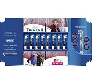 prime会员!Oral-B 欧乐B Stages Power 儿童电动牙刷替换刷头*8支 冰雪奇缘款  到手¥149.14
