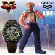 SEIKO 精工 × 街霸5 合作限定款 SRPF17K1 中性款机械腕表