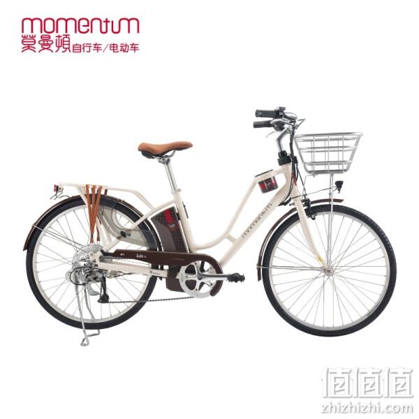 Giant 捷安特 momentum 莫曼顿Latte E+拿铁时尚休闲铝合金新国标电动助力自行车 樱白 26X17L 建议身高160-175cm
