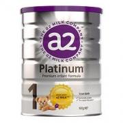 a2 艾尔 新西兰原装进口 a2 白金版 婴儿配方奶粉 1段(0-6个月) 900克/罐193.44元