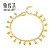 CHJ JEWELLERY 潮宏基 CC0001265600 女士黄金手链 约9.65g¥3802.10 7.8折 比上一次爆料降低 ¥88.8