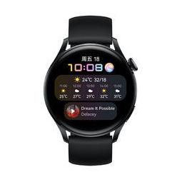 HUAWEI 华为 WATCH 3 智能手表 活力款 46mm 黑色氟橡胶表带