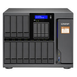 QNAP 威联通 TS-1635AX-8G十六盘位nas网络存器云盘云存储四核处理器(HDD16T*12 SSD4T*4)