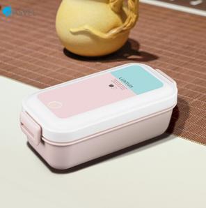ASVEL 阿司倍鹭 塑料饭盒 单层粉色 500ml