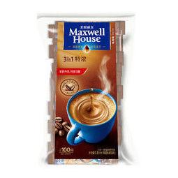 Maxwell House 麦斯威尔 三合一特浓速溶咖啡粉 1.3kg(100条)