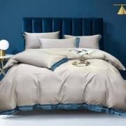 AIDLI 床上四件套 刺绣长绒棉 100支绅士款-浅灰绿 200*230cm(1.5/1.8m床)