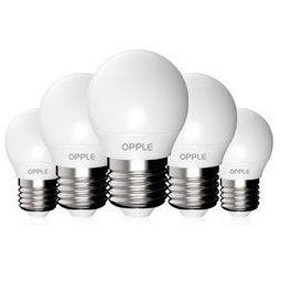 OPPLE 欧普照明 E27螺口灯泡 暖白光 五只装