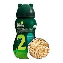 YEEHOO 英氏 Engnice)儿童零食 特浓牛奶味 儿童饼干非磨牙棒营养奶豆小小馒头90g