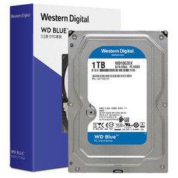 Western Digital 西部数据 WD)蓝盘 1TB SATA6Gb/s 7200转64MB 台式机械硬盘(WD10EZEX)