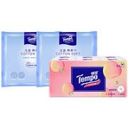 Tempo 得宝 棉柔巾7片2包+手帕纸6包¥9.90 1.0折