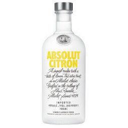 ABSOLUT VODKA 绝对伏特加 柠檬味伏特加酒 700ml