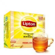 Lipton 立顿 奶茶原料 红茶叶 黄牌精选经典 办公室下午茶 袋泡茶包 2g*100包29.9元(需用券)