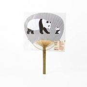 MUJI 無印良品 大熊猫团扇 24*37.5cm