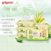Pigeon 贝亲 宝宝湿纸巾  90抽*6包