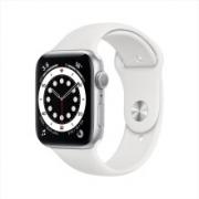 Apple Watch Series 6智能手表 GPS款 44毫米深空灰色铝金属表壳 白色运动型表带 M00H3CH/A3099元