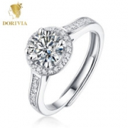 DORIVIA 多利维娅 Dorivia 一克拉莫桑石钻戒指