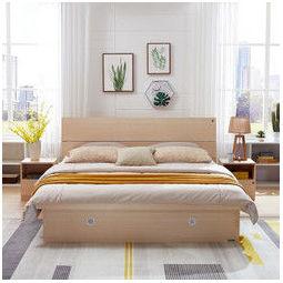 QuanU 全友 家私高箱床主卧家具套装组合1.5米1.8m板式床储物床106302