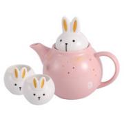 COSTA 咖世家 星空玉兔 茶壶陶瓷杯壶套装 1壶2杯